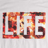 LIFE FULL OF ROSES LOGO MENS ICE GREY GRAPHIC TEE