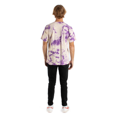 LOVE ORGANIC BUNNY ON PURPLE CLOUDY MENS GRAPHIC TEE