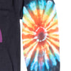 Altru Apparel Caution tie-dye long sleeve tee