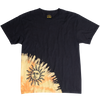 BURNING SUN asymmetrical black graphic tee