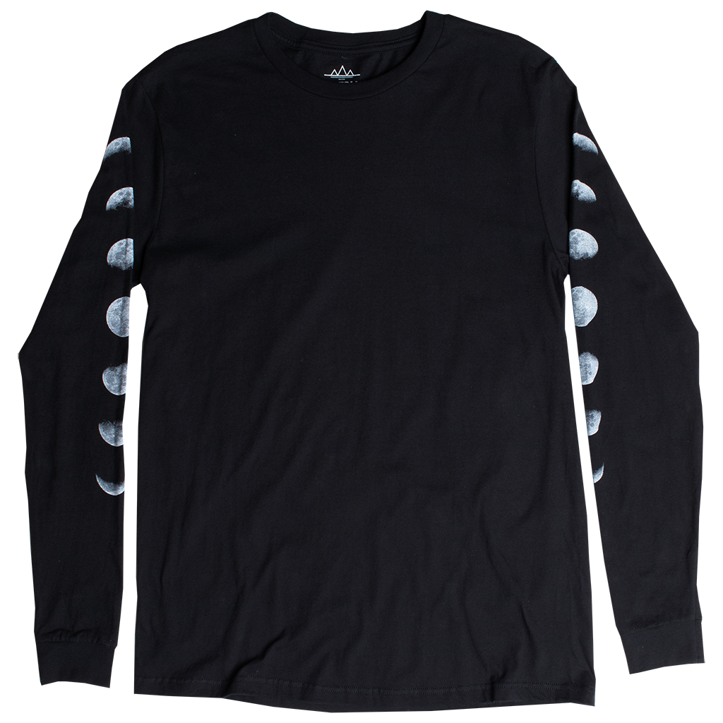 Lunar Eclipse Moon Phases long sleeve shirt by Altru Apparel 1