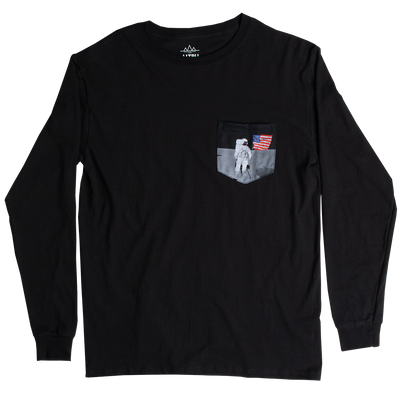 Altru Apparel Flag on Moon Pocket long sleeve tee