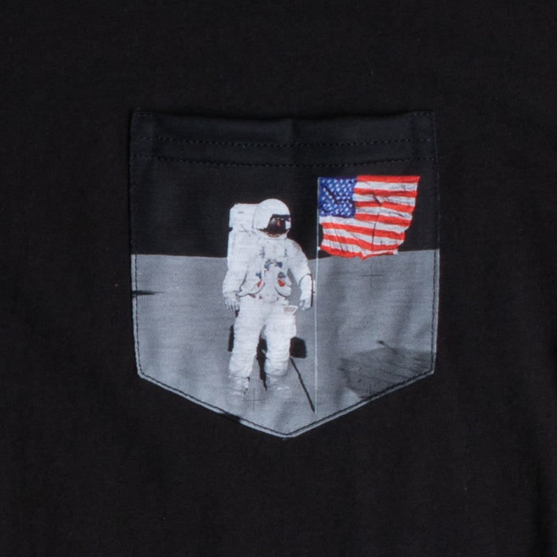 FLAG ON MOON Graphic Pocket Long Sleeve T-Shirt