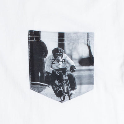 Monkey Bike Graphic Pocket Long Sleeve T-Shirt