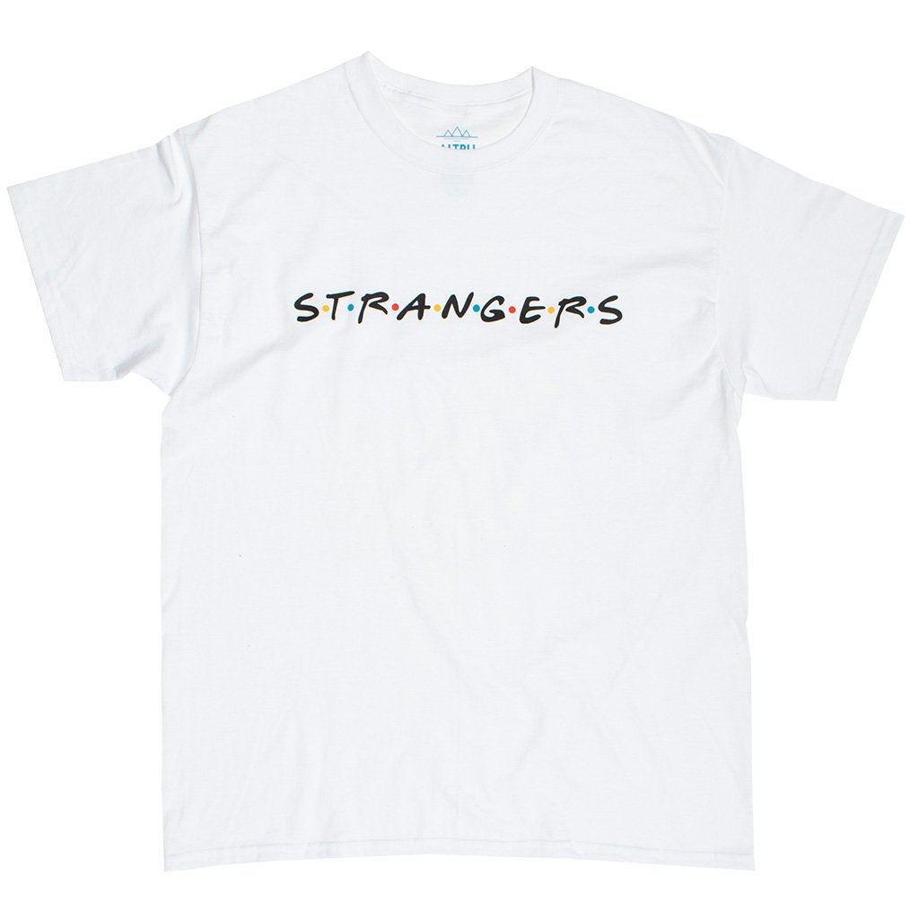 S.T.R.AN.G.E.R.S white graphic tee