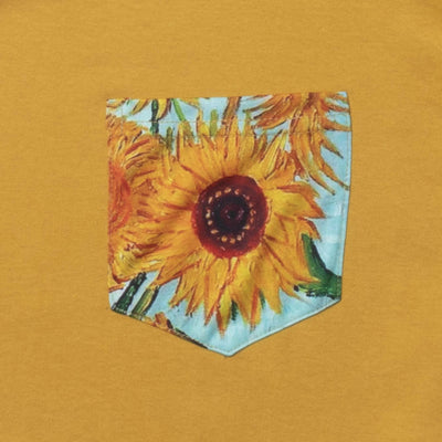 Altru Apparel Van Gogh's Sunflower pocket long sleeve graphic tee