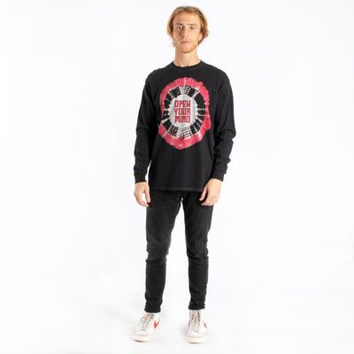 Altru Apparel Open Your Mind tie-dye long sleeve graphic tee
