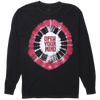 Open Your Mind long sleeve tie dye graphic tee