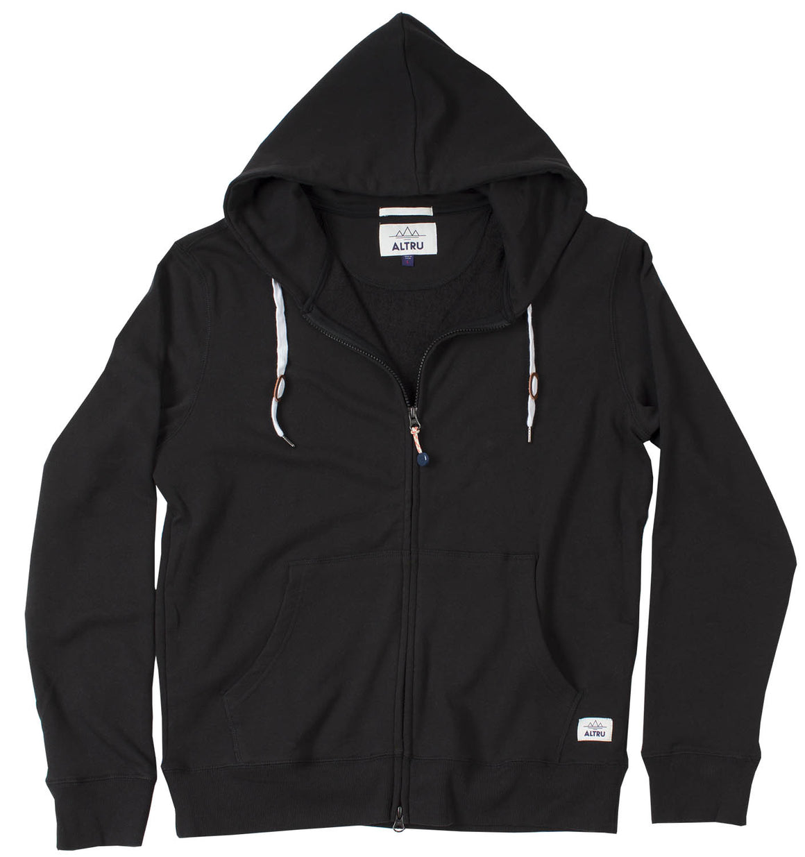 BLACK ZIP-UP CUSTOM FIT HOODIE