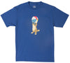Beach Ball Beast blue graphic tee