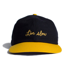Altru Apparel Live Slow text embroidered Strapback cap