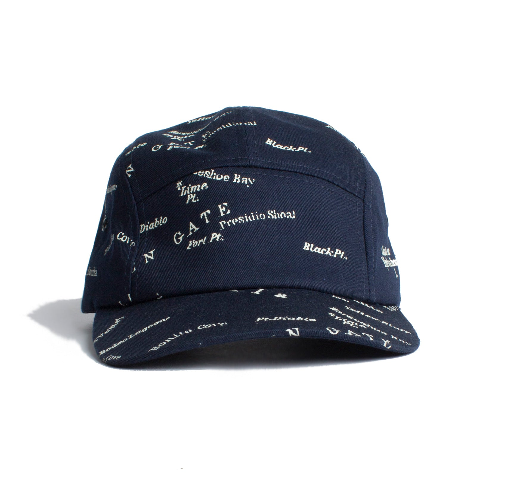 San Francisco Street Map Cap 5 panels