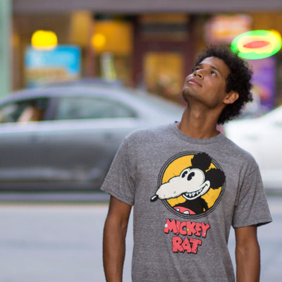 ORIGINAL Mickey Rat Spotlight Tee in Grey & White