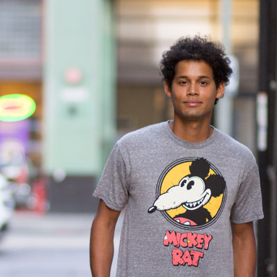Mickey Rat Spotlight Tee in Grey