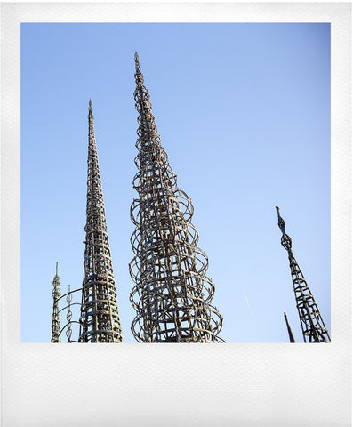 Watts Towers on Polaroid: Mathieu Lebreton Photographer.