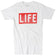 Official LIFE Logo Classic White Tee by by Altru Apparel