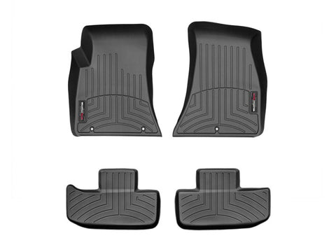 WeatherTech FloorLiner Mats for Dodge Challenger 2015-2019 1st 2nd Row Black