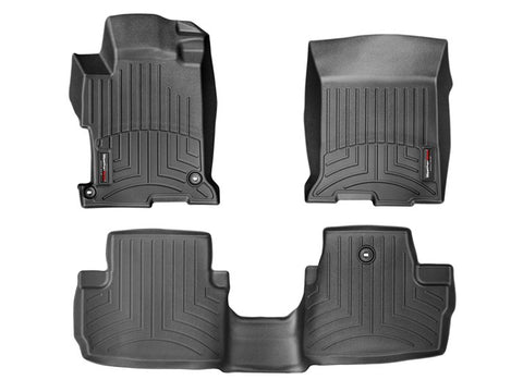 WeatherTech Floor Mats FloorLiner for Honda Accord Coupe - 2013-2017 - Black