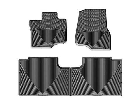 WeatherTech All-Weather Floor Mats for Ford F-150 Crew Cab 2015-2020 Black