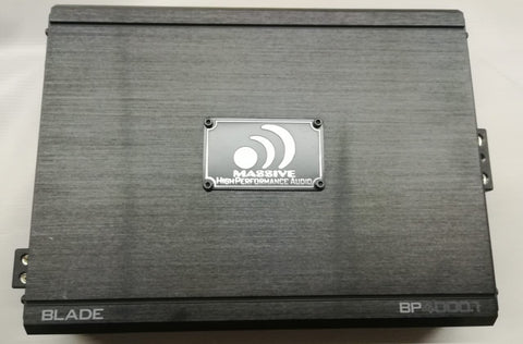 Massive Audio BP4000.1 4000 Watts BP Blade Mono Amplifier Subwoofer Bass Amp