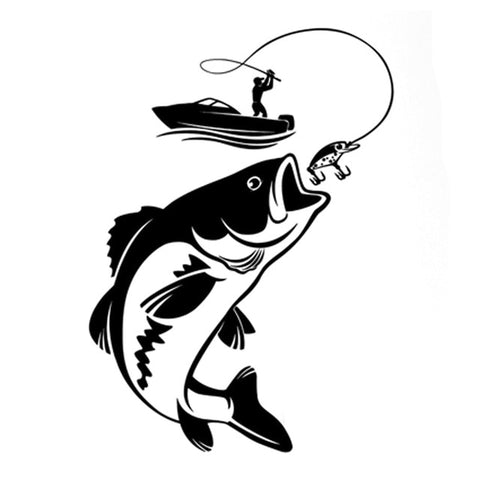 Fishing Fisherman Hobby Fish Boat Car Decal