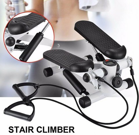 mini stepper with resistance bands stair climber