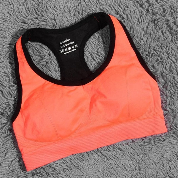 Shock Absorbing Quick Fast Dry Gym Fitness Running Sports Bra No Rims Full Cup Athletic Vest  Underwear Best Price - Fitness Adicts