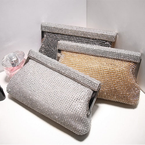 luxury high quality elegant fashion rhinestone clutch - Fitness Adicts