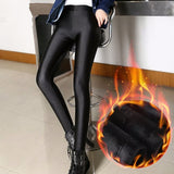 Velvet Leggings Shiny  Black Leggins s Calzas Mujer - Fitness Adicts