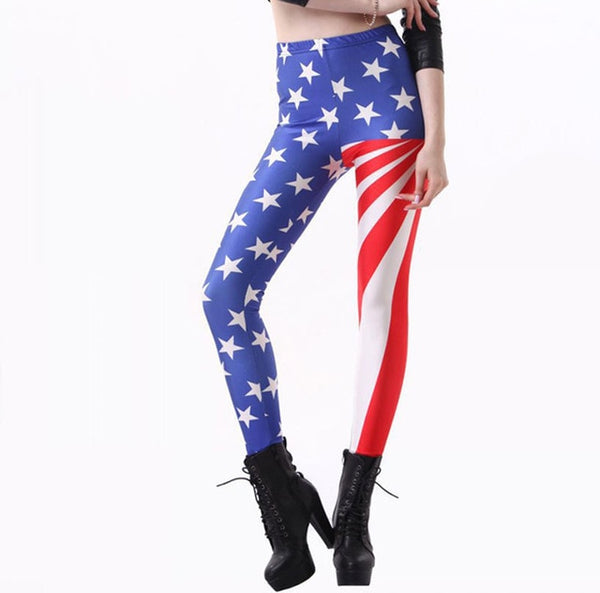 USA Flag  Legging 3D Printed - Fitness Adicts