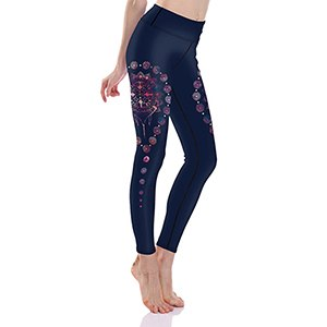 S-L Quality High New Fashion Design Leggings Jeep Flower Print Leggings 2017 Slim Hip Lift Breathable Fitness Legging Pant L0015 - Fitness Adicts