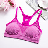 Women Sport Bra Running Gym Yoga Fitness Padded Tank Stretch Workout BU L - Fitness Adicts