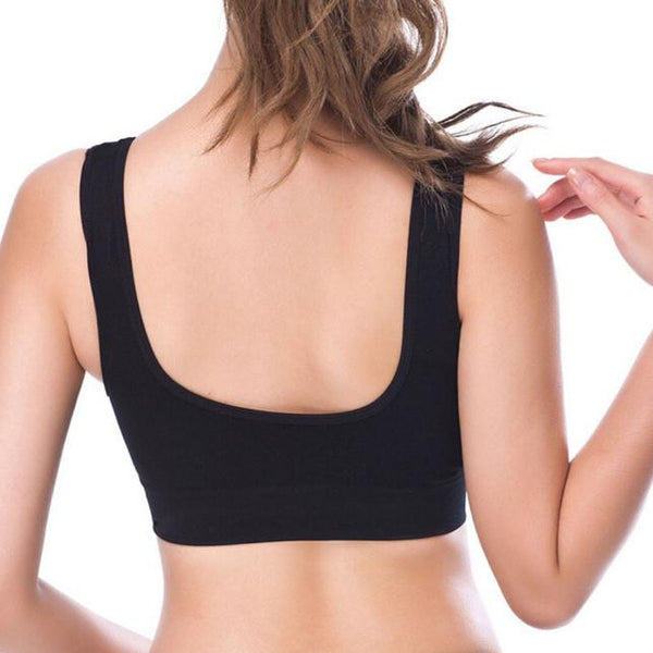 Womens Thin No Mat Athletic Vest Fitness Sports Yoga Stretch Bra - Fitness Adicts