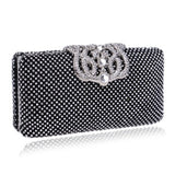 crown diamonds  rhinestones clutches  handbags silver/gold/black - Fitness Adicts