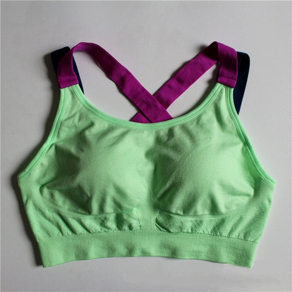 Shockproof Running Vest, Quick Dry Push Up Padded Sports Bras, - Fitness Adicts