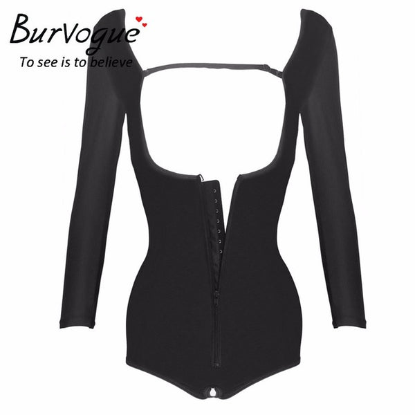 Waist Trainer Arm Compression Slimming Bodysuit , Sexy Underbust - Fitness Adicts
