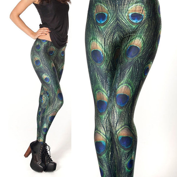 Lovely Peacock Feathers Leggings - Fitness Adicts