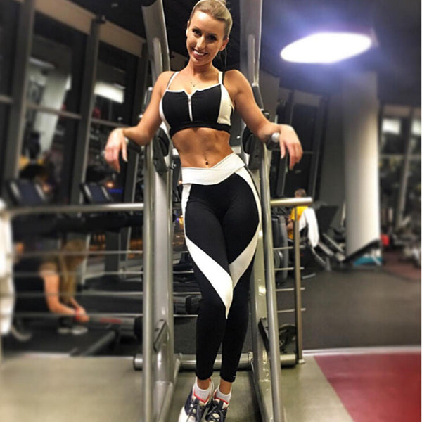 Women Sports Yoga Workout Gym Fitness Pants Jumpsuit Athletic Leggings - Fitness Adicts
