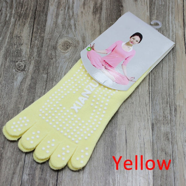 Sports Fitness Yoga Socks Five-toe Anti-skid Breathable Climbing Camping - Fitness Adicts