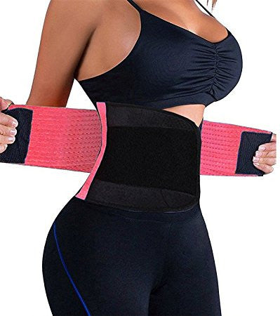 Women Waist Trainer Belt Body Shaper Belly Wrap - Trimmer Slimmer Compression Band for Weight Loss Workout Fitness - Fitness Adicts