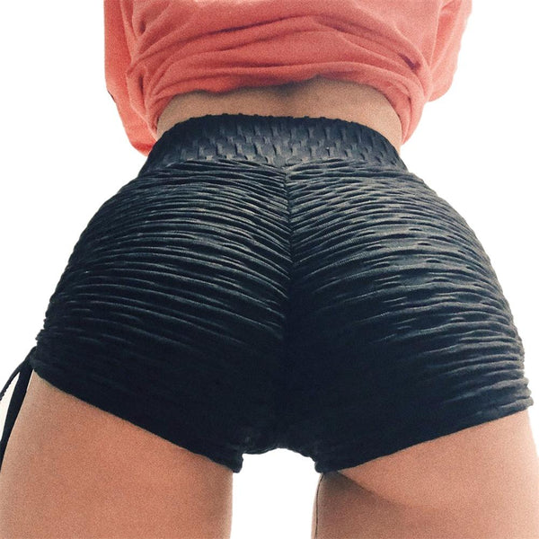 Tighten Women Yoga Shorts High Waist Sport Fitness Quick Dry Hollow Cross Short Gym Running Workout Leggings Bottom XL - Fitness Adicts