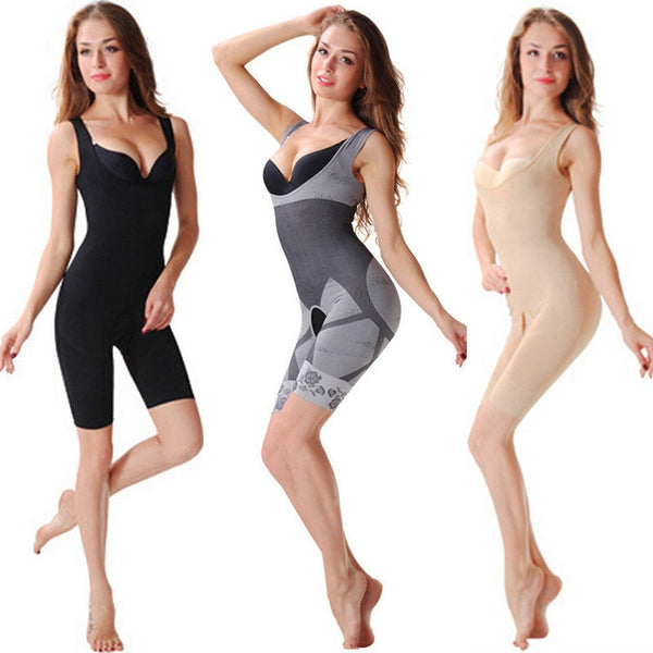 1pc Bodysuit Women Corset Slim Suit Body Shaper Bamboo Charcoal Sculpting Underwear - Fitness Adicts
