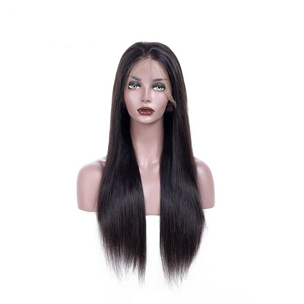 Straight 360 Lace Frontal Human Hair Wigs 100% human hair With Baby Hair - Fitness Adicts