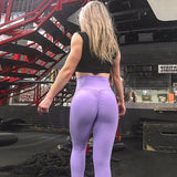 Upgrade Super Stretch Hip Push Up Leggings Trendy Breathable Design Quick Drying Ladies Candy Color Butt Lift Trousers - Fitness Adicts