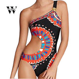 Sexy  Print Backless Swimsuit Bodysuit Beachwear - Fitness Adicts