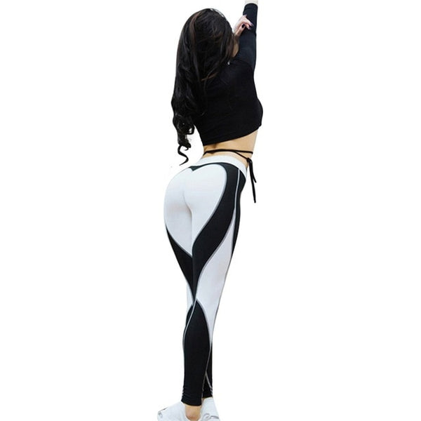 Sexy Women Leggings Gothic Insert Mesh Design Trousers Pants Big Size Black White Patchwork Capris Sportswear Fitness Leggings - Fitness Adicts