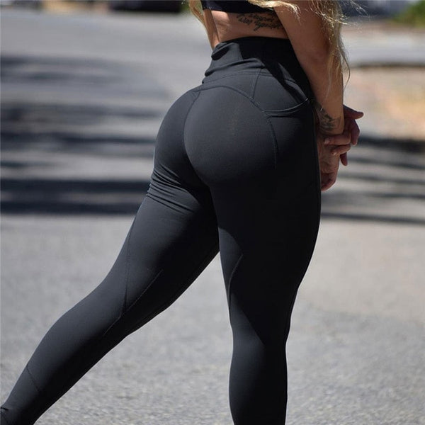 Women's High Waist Leggings Push Up Leggings Workout - Fitness Adicts