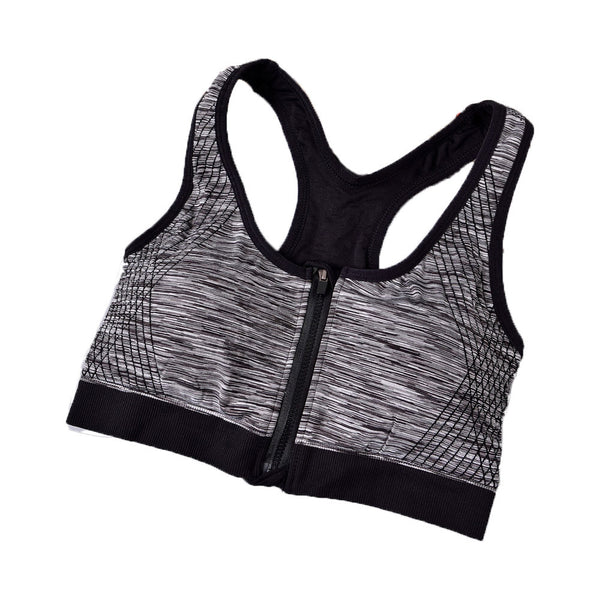 Front Zipper Sports bra Running Supportive Clothing - Fitness Adicts