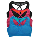 Angelina Seamless Racerback Sports Bra with Keyhole Detail (3-Pack) - Fitness Adicts
