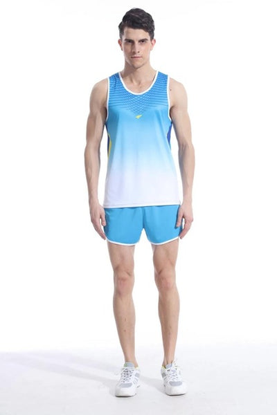 Men Women Yoga Sets Professional marathon Running Sports vest + Shorts Fitness Gym track and field Tank Tops Elastic Short Pants - Fitness Adicts